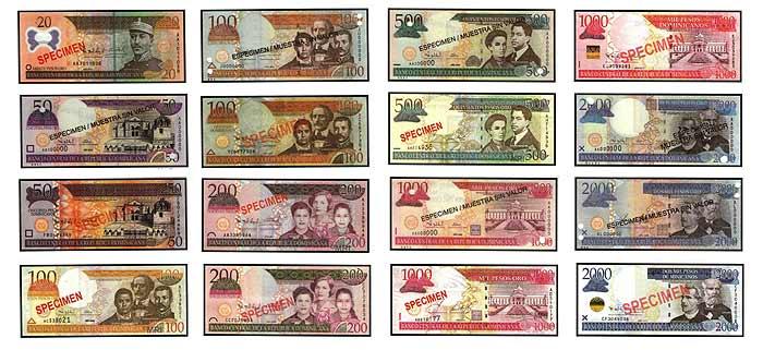 банкноты доминиканской валюты