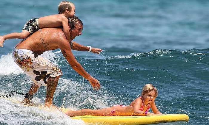 семейный серфинг в доминикане
