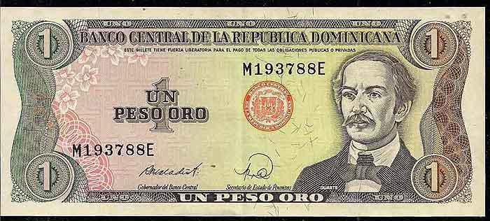 один песо в доминикане