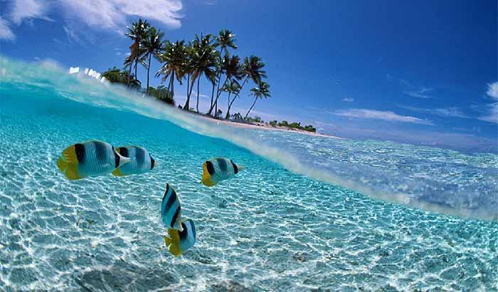 Пляж кубы с прозрачной водой