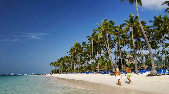 белоснежные пляжи в Пунта Кана