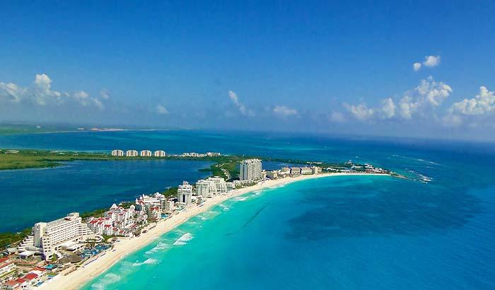 Популярный курорт Канкун в Мексике