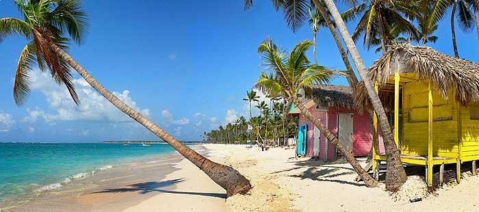Красивый пляж в Доминикане в феврале