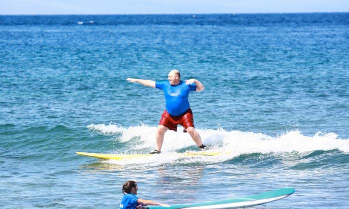 занятие серфингом в Доминикане