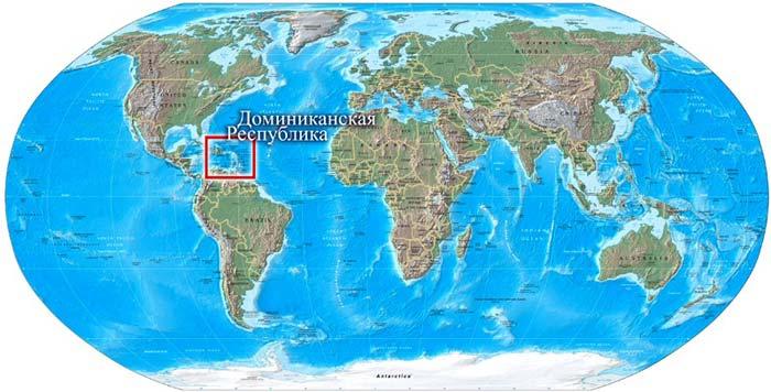 Доминиканская республика на карте мира фото